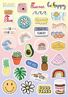 VSCO Light Pink Blue Yellow Funny Stickers for Girls for Bottle Phone Case . - VSCO light pink blue yellow Funny stickers for girls for bottle cell phone case … – nice pictur - Stickers Cool, Tumblr Stickers, Funny Stickers, Stickers For Laptop, Free Printable Stickers, Happy Stickers, Making Stickers, Printable Calendars, Craft Stickers