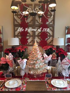Life \u0026 Home at 2102: Pretty in Pink Christmas Home Tour - Living and Dining & 572 best Christmas Tour of Homes images on Pinterest in 2018 ...