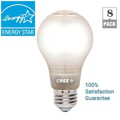 Cree 60W Equivalent Soft White A19 Dimmable LED Light Bulb with 4Flow Filament Design (8-Pack)