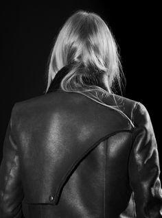 Helmut Lang Leather jacket back detail