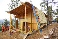 Article about the challenge of building a certified Passive House without foam or other harmful materials. | #DIY Tiny Homes