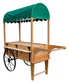 Peddlers Cart With Canopy| Wooden Display Cart