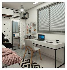 Studio Marte Arquitetura, Interiores e Design. Small Space Interior Design, Home Design Decor, Home Decor, Diy Room Decor, Bedroom Decor, Small Room Bedroom, Decorate Your Room, Home Wallpaper, Fashion Room