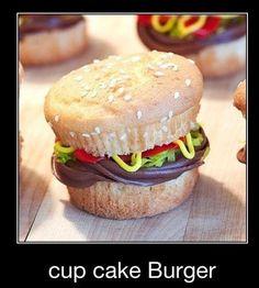 Cup Cake 'Burger' ... cute!