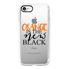 Orange is the new black - iPhone 7 Case, iPhone 7 Plus Case, iPhone 7... ($40) ❤ liked on Polyvore featuring accessories, tech accessories, iphone case, iphone hard case, apple iphone cases, iphone cases and iphone cover case