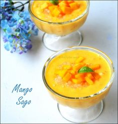 Easy mango sago recipe with condensed milk and sago. With step by step pictures for easy understanding!
