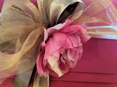 A Gift Wrapped Life - Gifting Tips, Advice and Inspiration: wrapped in pink and gold