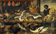 Fish Market- Frans Snyders ..look closely whats for sale.