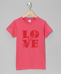 Loving this Hot Pink 'Love Basketball' Tee - Girls on #zulily! #zulilyfinds