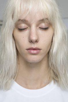 Clean beauty look for MSGM @ Milan Fashion Week SS16 #milanfashionweek #springsummer16 #msgm #makeup #beauty