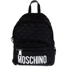 Moschino Backpacks ($340) ❤ liked on Polyvore featuring bags, backpacks, black, moschino bag, moschino backpack, knapsack bags, black backpack and backpack bag