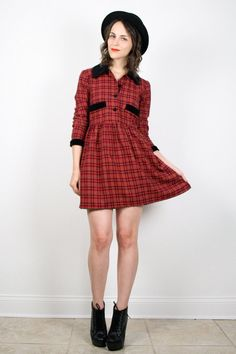 Vintage 90s Dress Grunge Dress Babydoll Dress by ShopTwitchVintage
