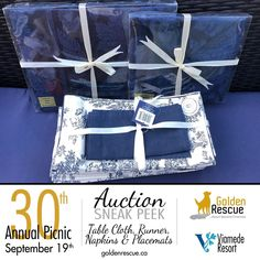 30 Years, Rescue Dogs, Table Runners, Picnic, Napkins, Auction, Facebook, Navy, Amazing