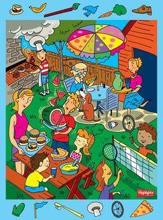 ¿Qué están haciendo en el picnic?