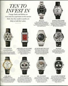 See luxury watches. Patek Phillippe, Hublot, Rolex and much more. Gents Watches, Stylish Watches, Luxury Watches For Men, Sport Watches, Cool Watches, Rolex Watches, Montre James Bond, Swiss Army Watches, Expensive Watches