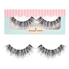 """Think of an even wispier look than our original """"Temptress®"""" lashes. We like to say our """"Heartbreaker®"""" and """"Temptress®"""" lashes joined in love and had a baby! A highly textured to look voluminous thro"""