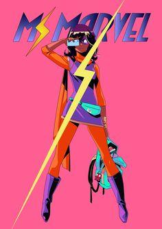 "msmarvel:""Ms Marvel Japanese cover by Shigeto Koyama"" Marvel Comics, Dc Comics Women, Marvel Art, Marvel Heroes, Captain Marvel, Marvel Women, Kill La Kill, Gi Joe, Ms Marvel Kamala Khan"