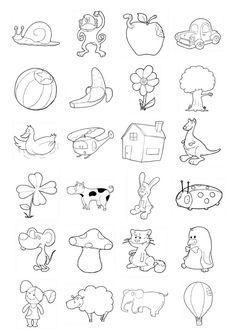 Iconos para niños. Deben identificarlos, colorearlos, pueden hacer un cuento, frases, y muchas actividades con los dibujos.