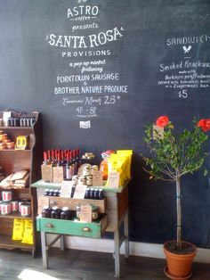 astro coffee . detroit. I love the chalkboard wall; such a great idea for the home as well!
