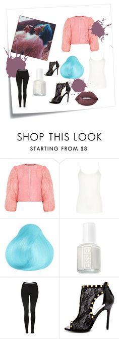 """Untitled #69"" by coral45 on Polyvore featuring Post-It, Charlotte Simone, Oasis, Essie, Topshop, Bebe and Lime Crime"