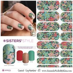 This month's Sisters' Style, Sweet September, is really quite gorgeous! And it's a mix, IMO, of summer/fall - a great crossover and only available in September!     ***    #JamminNailsByKim #NailWraps #Manicure #Pedicure #PrettyNails #Beauty #NailArt #NailArtDesign #NailFashion #DIYNails #DIYBeauty #DIYNailArt #Nails2Inspire #NailDesign #NonToxicBeauty #CleanBeauty #CrueltyFree #VeganBeauty #EcoFriendly #IHaveAWrapForThat #Jamberry #BeYourOwnKindOfBeautiful #SistersStyle #SweetSeptember