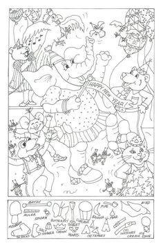 Holiday Crafts 4 Kids - New Year's Eve Hidden Picture Book Activities, Preschool Activities, Colouring Pages, Coloring Books, Hidden Pictures Printables, Visual Perceptual Activities, Hidden Picture Puzzles, Kids New Years Eve, Picture Search