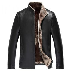 Italian Style Name Brand Mens Faux Fur Leather Jacket Christmas Gift For Mens Autos Leather Fur Coats Winter Outwear Male C062 ** AliExpress Affiliate's buyable pin. Click the image to view the details on www.aliexpress.com