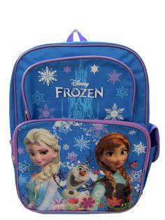Tilava ja upeasti koristeltu reppu on Frozen-fanin unelma! Säädettävät olkahihnat ja edessä kaksi vetoketjullista taskua. Toisella sivulla avonainen verkkotasku ja toisella sivulla tarralla suljettava tasku. Mitat noin 40 x 30,5 x 13 cm.