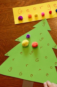 Decorate-by-Letter Christmas Tree Craft & Learning Activity Christmas Crafts For Kids, Christmas Fun, Holiday Crafts, Holiday Fun, Christmas Stocking, Kids Crafts, Preschool Crafts, Alphabet Activities, Learning Activities