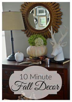 So easy 10 minute fall decor | chatfieldcourt.com