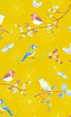 68 Ideas For Wall Paper Yellow Pip Studio Bird Wallpaper, Wallpaper Decor, Pattern Wallpaper, Pip Studio, Contemporary Wallpaper, My New Room, Designer Wallpaper, Chinoiserie, Home Decor