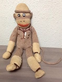 Very Old Vintage Sock Monkey with Tuxedo 10 | eBay