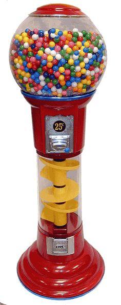 5' Spiral Spin N Drop Gumball Machine