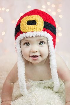Santa Christmas Hat  Instant Download Crochet by SweetKiwiCrochet, $3.49