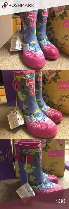 Joules Girl Rain Wear Boots Size 13 new in box Joules Girl Rain Wear Boots Size 13 new in box. Joules Shoes Ankle Boots & Booties