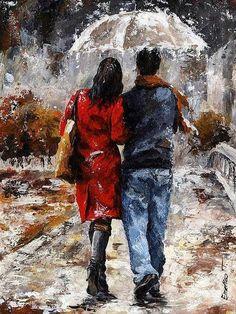 C'est la folie avec lui, là sous la pluie, jeux interdis, l'amour, je n'ai jamais su refuser...