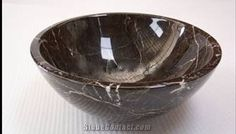 China Emperador Dark Marble Sink