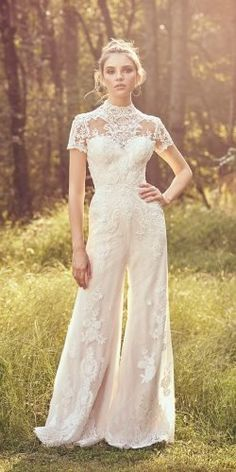 Lillian West wedding dresses embody whimsy and romance. From soft, patchwork laces to flowing silhouettes, Lillian West is perfect for the free-spirit bride. Lillian West, Casual Wedding, Wedding Suits, Wedding Attire, Wedding Gowns, Wedding Pantsuit, Wedding Jumpsuit, Wedding Pants Outfit, Wedding Rompers