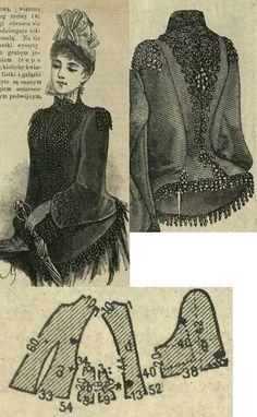 Tygodnik Mód 1887.: Winter mantle.