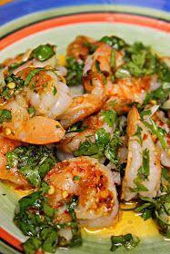 Grilled Shrimp with Garlic Cilantro Sauce