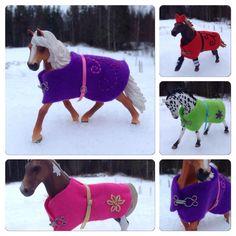 Döttrarna, som är 7 och 11 år, samlar på Schleich hästar. Till dessa går det förstås att köpa en massa tillbehör, men barnen tycker ofta att det är roligare att tillverka dem själva. Nu under jullo…