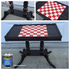 How great is this table from Chelsea's Creations, https://www.facebook.com/pages/Chelseas-Creations/604571136232659?fref=ts?  It was stained with General Finishes Java Gel Stain. You can find your favorite GF products at Woodcraft, Rockler Woodworking stores or Wood Essence in Canada. You can also use your zip code to find a retailer near you at http://generalfinishes.com/where-buy#.UvASj1M3mIY.  #generalfinishes #javagel #customfurniture