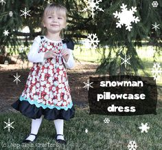 Nap Time Crafters: Holiday Pillowcase Dress Tutorial