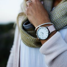The Kirra. Blush and Silver Style. John Taylor Watches. Australian watch style. Minimal watch brand. Swiss movement. Women's watch style.