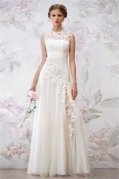 A Line Lace Wedding Dress
