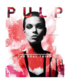 Pulp Mag Cover - Black and White photography with splash of watercolor (by Iveta Karpathyova). Pretty.
