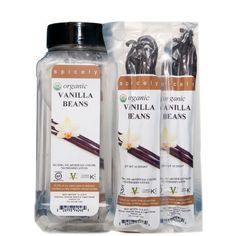 Spicely 100% Certified Organic and Certified Gluten Free, Vanilla Bean (10 count) by Spicely Organic Spices, http://www.amazon.com/dp/B004I41J8G/ref=cm_sw_r_pi_dp_oeCPrb059ZANE