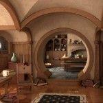 Hobbit Hole / Earthbag Home Interior