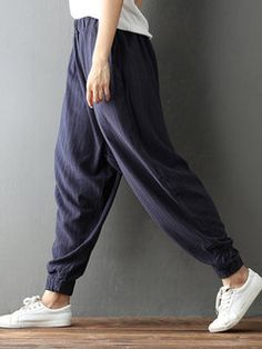 Gorgeous Casual Solid Color Drawstring Waist Pants For Women - NewChic  Mobile Ropa 577c8b752559