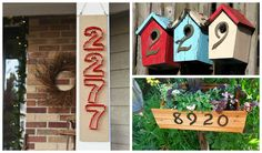 If you are creative and crafty why don't you show that to everybody. You can play with the house numbers and make them more interesting. The outer look of